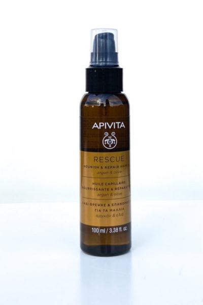 Apivita Rescue INTENSE REPAIR Nourish and Repair Hair Oil Aceite rescate reparador
